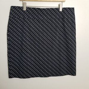 Margaret M Geometric Pattern Pencil Skirt 2X